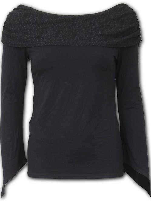 GOTHIC ELEGANCE - Goth Sleeve Textured Bolero Top (Plain)