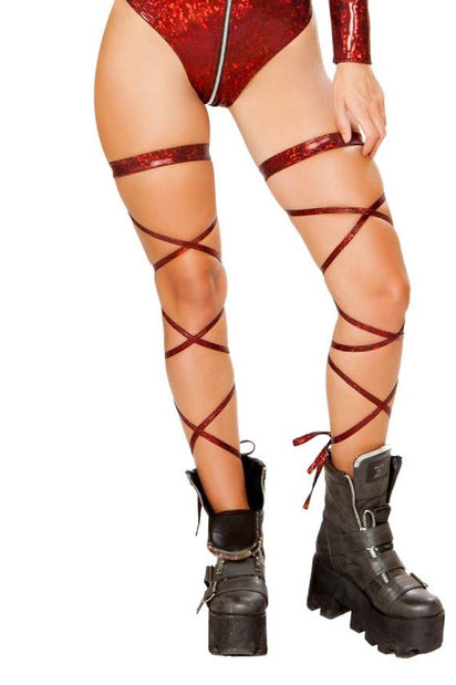 "3629 - 100"" Broken Glass Leg Strap with Attached Garter"