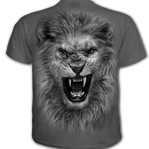TRIBAL LION - Kids T-Shirt Charcoal