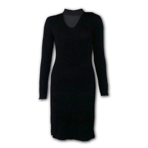 GOTHIC ELEGANCE - Neck Band Elegant Dress (Plain)