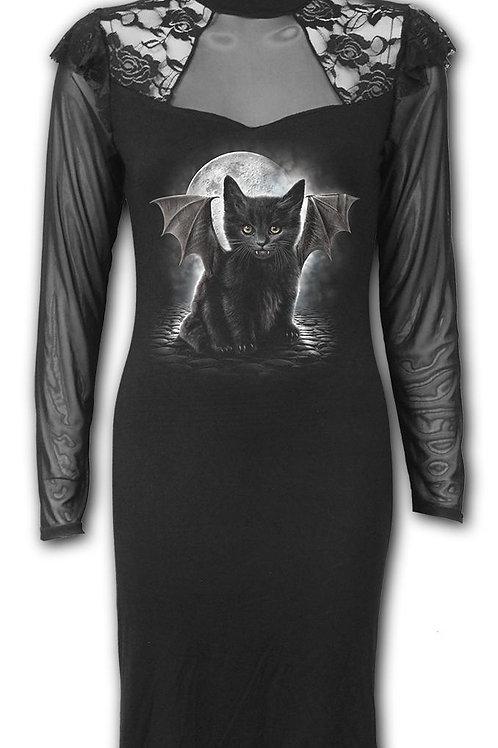 BAT CAT - Lace Shoulder Corset Dress (Plain)
