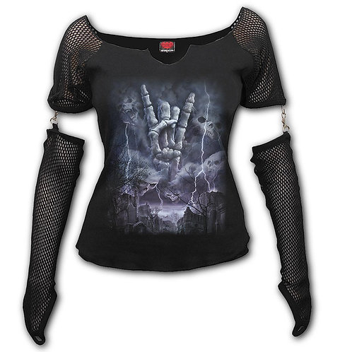 ROCK ETERNAL - Mesh Glove Long Sleeve Top (Plain)