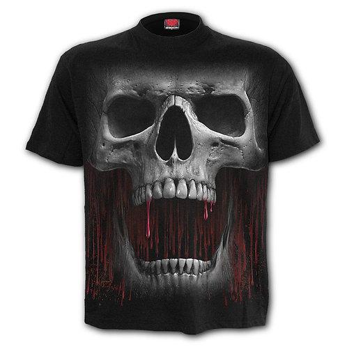 DEATH ROAR - Front Print T-Shirt Black