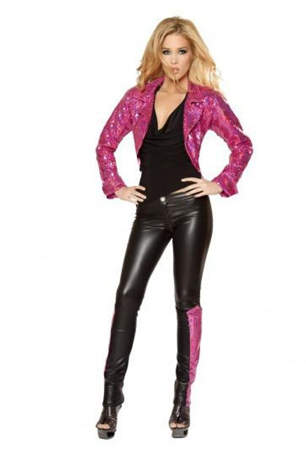 2979 - Skinny Pants with Sequin Inset
