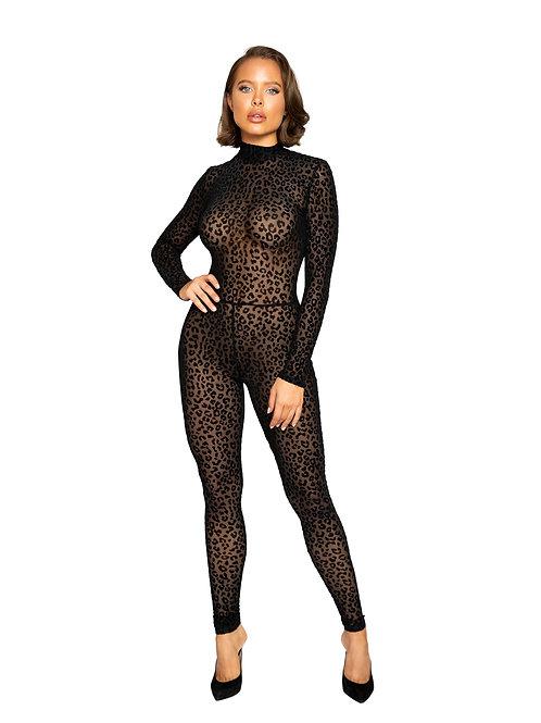 LI376 - Velvet Leopard Bodysuit