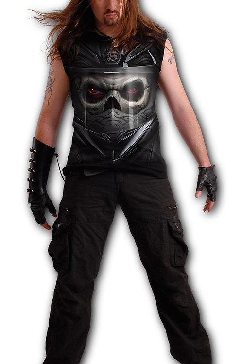 DEMON BIKER - Sleeveless T-Shirt Black (Plain)