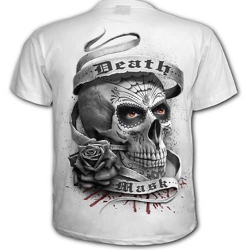 DEATH MASK - T-Shirt White (Plain)