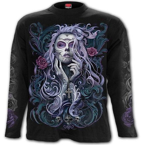ROCOCO SKULL - Longsleeve T-Shirt Black