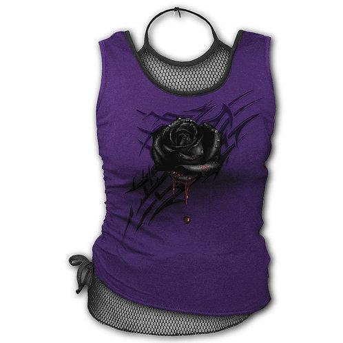 BLACK ROSE DEW - 2in1 Mesh Top Purple (Plain)