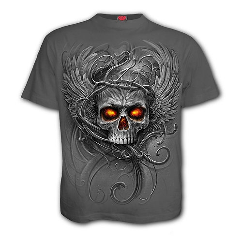 ROOTS OF HELL - T-Shirt Charcoal (Plain)