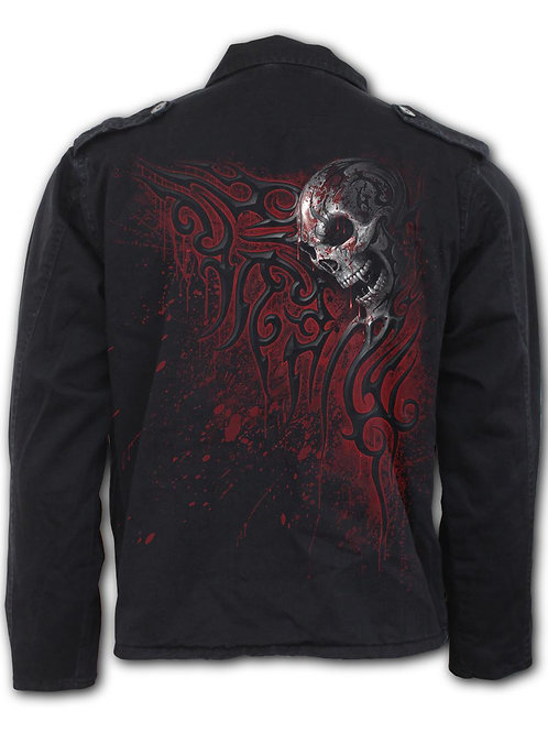 DEATH BLOOD - Military Lined Jacket with Hidden Hood (Plain)