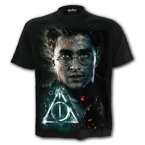 HARRY - DEATHLY HALLOWS - T-Shirt Black