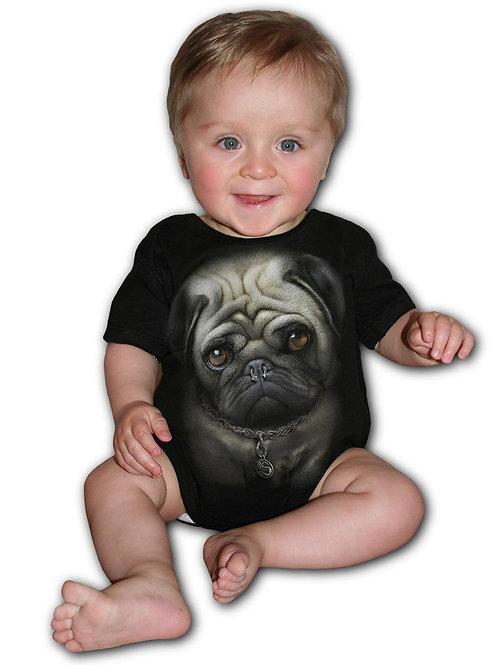 PUG LIFE - Baby Sleepsuit Black (Plain)