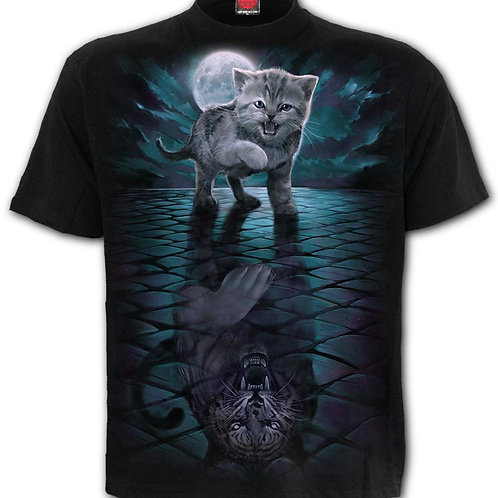 WILD SIDE - Front Print T-Shirt Black