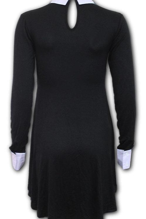 GOTHIC ROCK - PeterPan Collar Baby Doll LS Dress (Plain)
