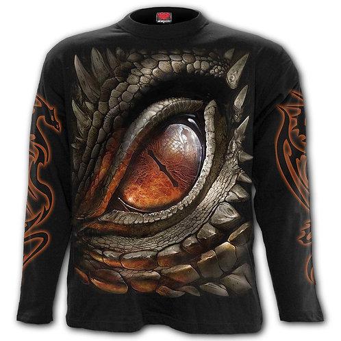 DRAGON EYE - Longsleeve T-Shirt Black