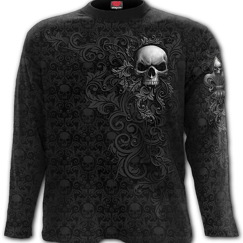 SKULL SCROLL - Scroll Impression Longsleeve T-Shirt