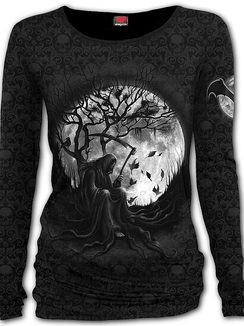 KILLING MOON - Scroll Impression Longsleeve Baggy Top