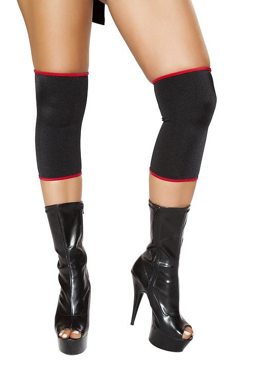 4698 - Black/Red Ninja Knee Pads