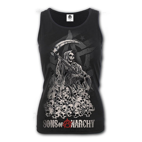 SOA REAPER SKULLS - Razor Back Top Black (Plain)
