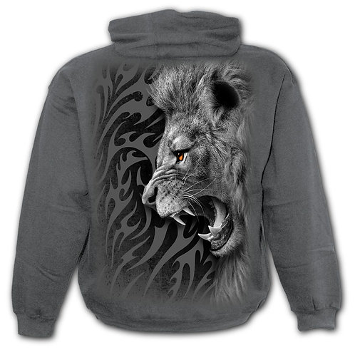 TRIBAL LION - Kids Hoody Charcoal
