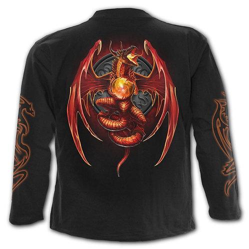 DRAGON'S WRATH - Longsleeve T-Shirt Black