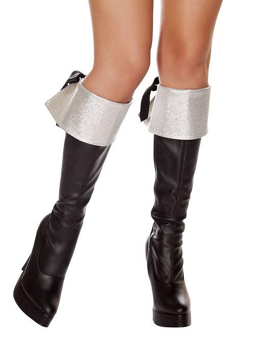 4568B - Silver Glitter Boot Cuffs