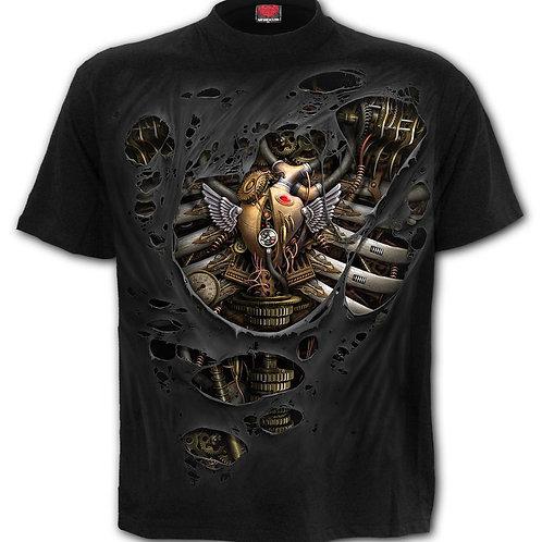 STEAM PUNK RIPPED - T-Shirt Black