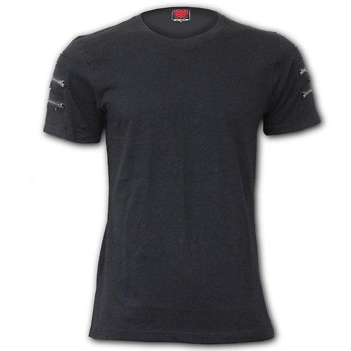 URBAN FASHION - Twin Zipper Sleeve Fashion Tee (Plain)