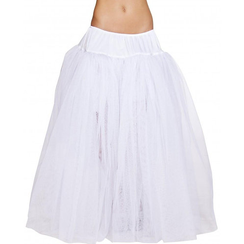 4554 - Full Length White Petticoat
