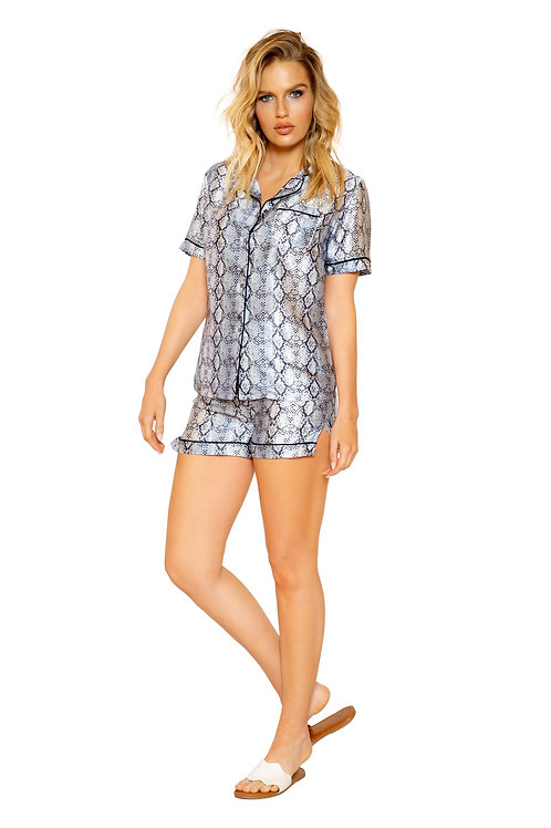 LI317 - 2pc Snakeskin Lounge Pajama Set