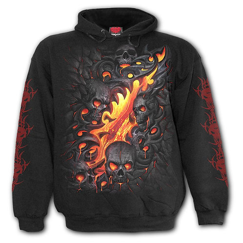 SKULL LAVA - Kids Hoody Black (Plain)