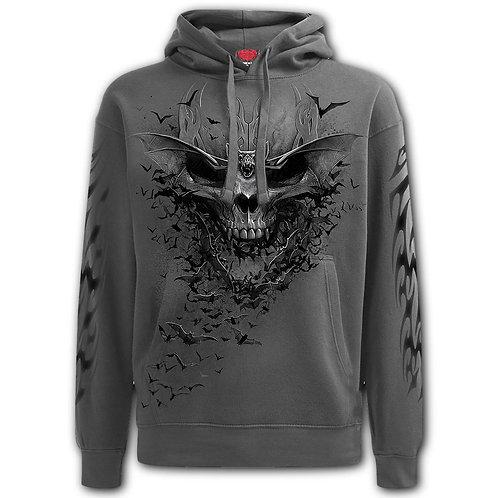 BAT SKULL - Hoody Charcoal (Plain)
