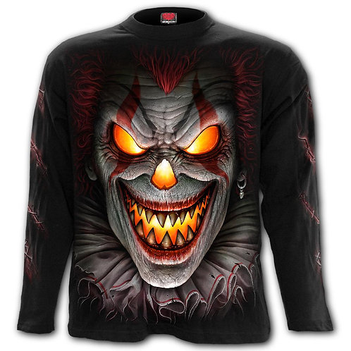 FRIGHT NIGHT - Longsleeve T-Shirt Black (Plain)