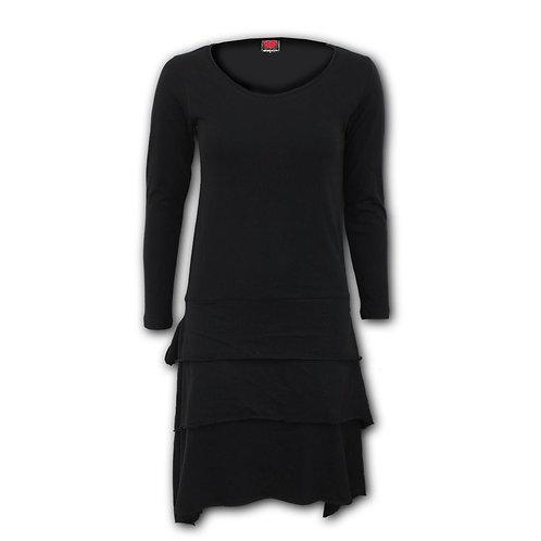 GOTHIC ROCK - Layered Skirt Dress (Plain)