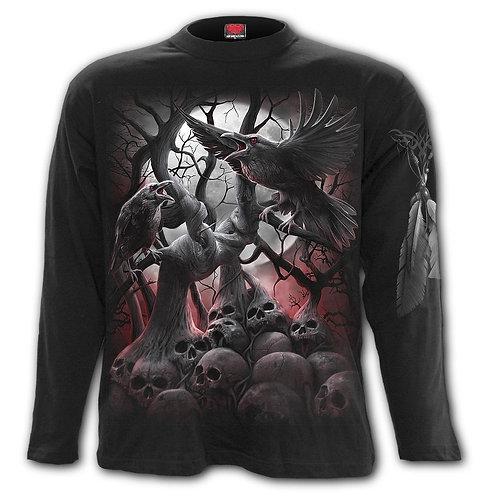 DARK ROOTS - Longsleeve T-Shirt Black