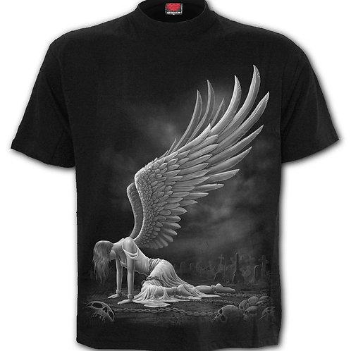 ANGEL - Front Print T-Shirt Black