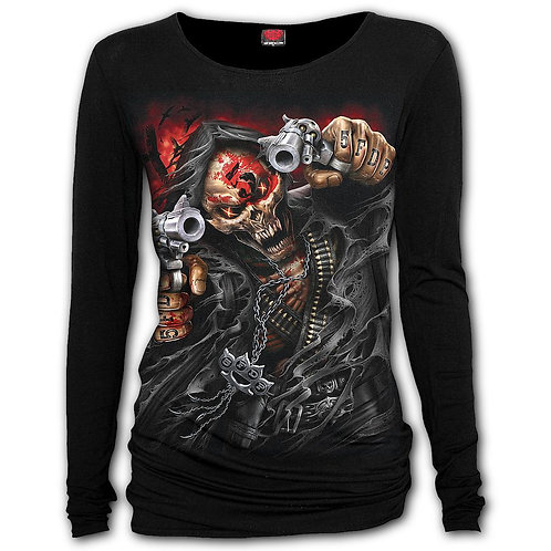 5FDP - ASSASSIN - Baggy Top Black (Plain)