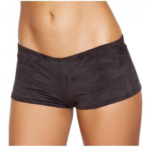 SH224 Black Suede Boy Shorts