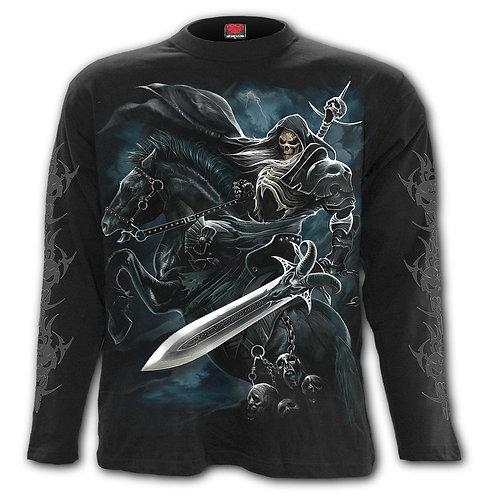 GRIM RIDER - Longsleeve T-Shirt Black