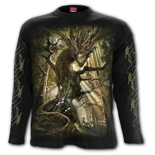 DRAGON FOREST - Longsleeve T-Shirt Black