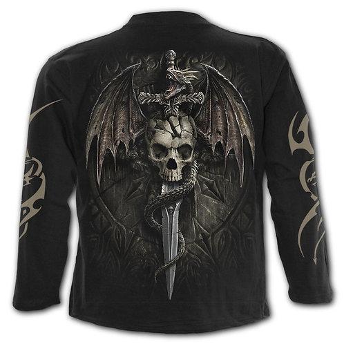 DRACO SKULL - Longsleeve T-Shirt Black