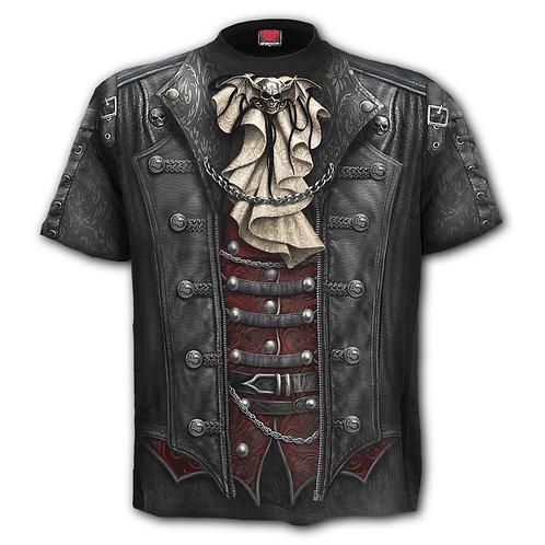 GOTH WRAP - Allover T-Shirt Black