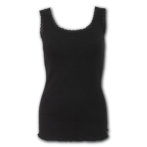 URBAN FASHION - Crochet Collar Ribbed Vest (Plain)