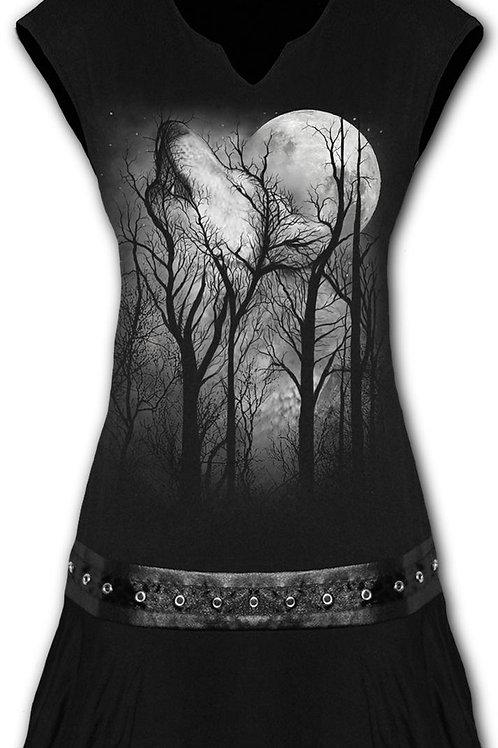 FOREST WOLF - Stud Waist Mini Dress Black (Plain)