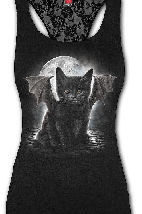 BAT CAT - Racerback Lace Top Black (Plain)