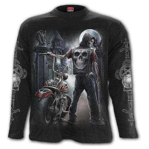 NIGHT CHURCH - Longsleeve T-Shirt Black