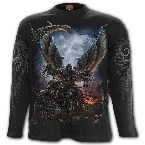 RIDE OR DIE - Longsleeve T-Shirt Black