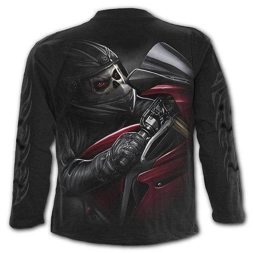 DEMON BIKER - Longsleeve T-Shirt Black