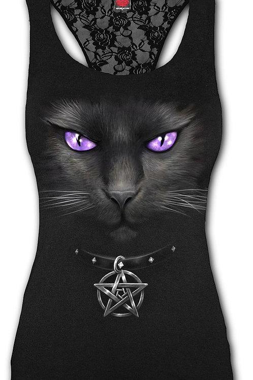 BLACK CAT - Racerback Lace Top Black (Plain)